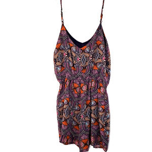 Poetry women's Hippy print Romper size small